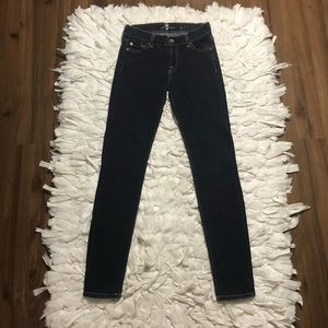 7 For All Mankind Skinny Jeans Dark Wash Size 24
